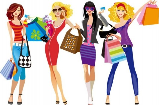illustration-vectorielle-shopping-girls_53-9614