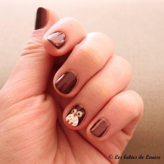 manucure d'automne hibou OPI - Les lubies de Louise (1 sur 6)