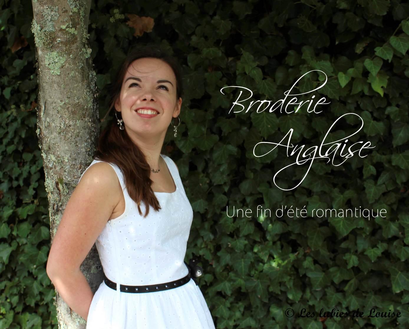 Petite robe broderie anglaise blanche - Les lubies de Louise titre