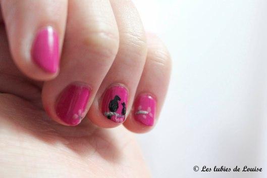 Manucure rose petits oiseaux - Les lubies de Louise (2 sur 9)