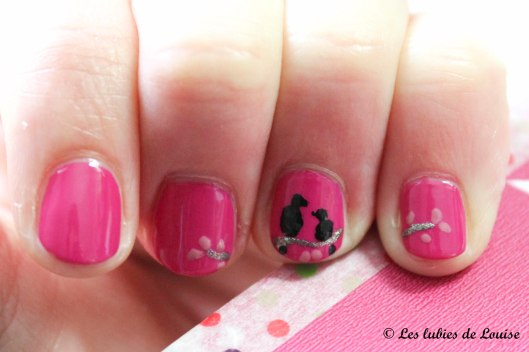 Manucure rose petits oiseaux - Les lubies de Louise (7 sur 9)