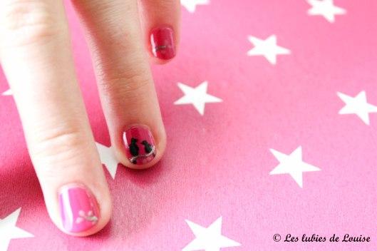 Manucure rose petits oiseaux - Les lubies de Louise (9 sur 9)