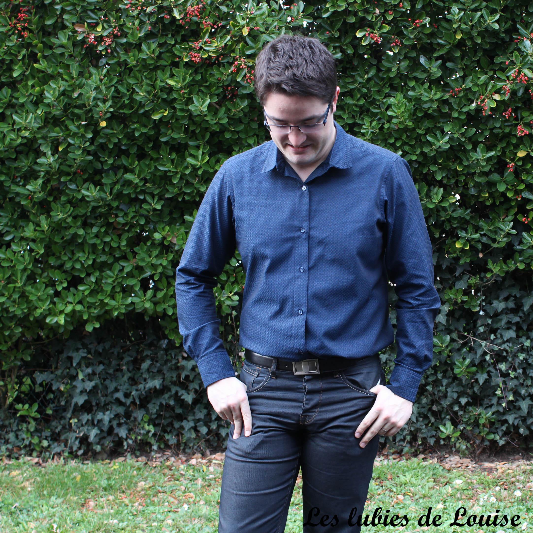 Chemise homme manches longues- les lubies de Louise-19